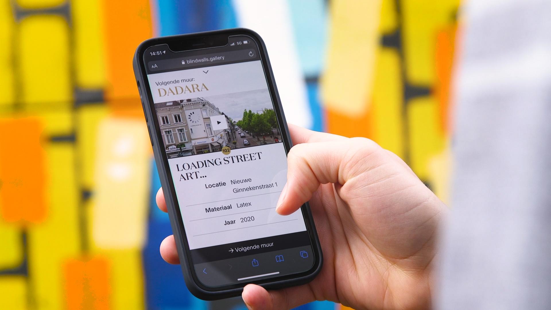 Web app voor het grootste museum van Breda: Blind Walls Gallery